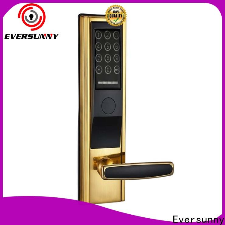 Eversunny front key code door lock touch screen for office