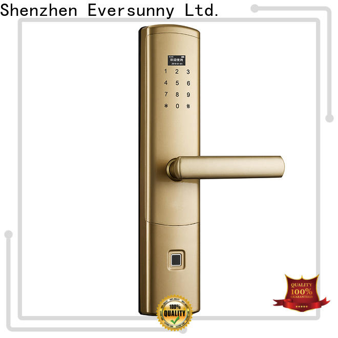 Eversunny fingerprint scanner door lock front door for apartment