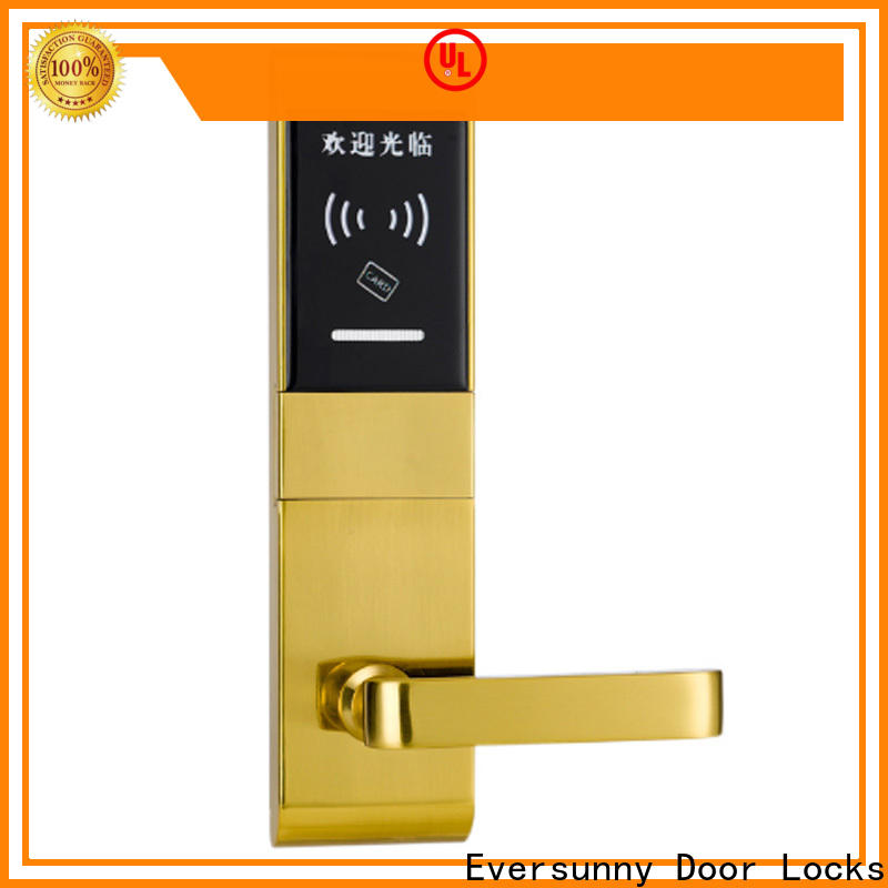 Eversunny card access door lock system stainless steel for home