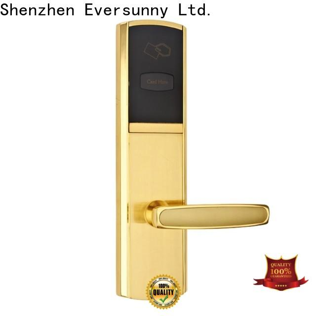 Eversunny key card lock system with central management control system for door