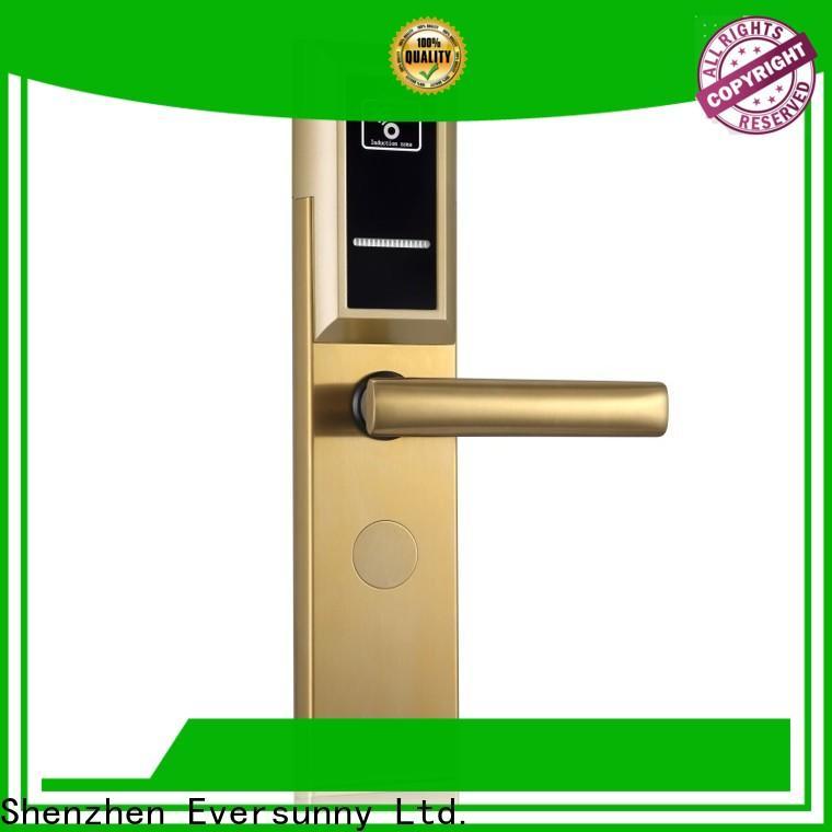 Eversunny smart key card door lock stainless steel for hotel