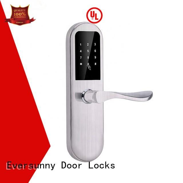 Eversunny keyless code door lock touch screen for hotel