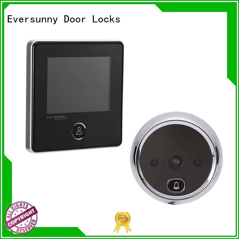 Smart digital door viewer with small cat eye and doorbell