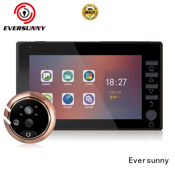 Eversunny version lcd door viewer lens for apartment
