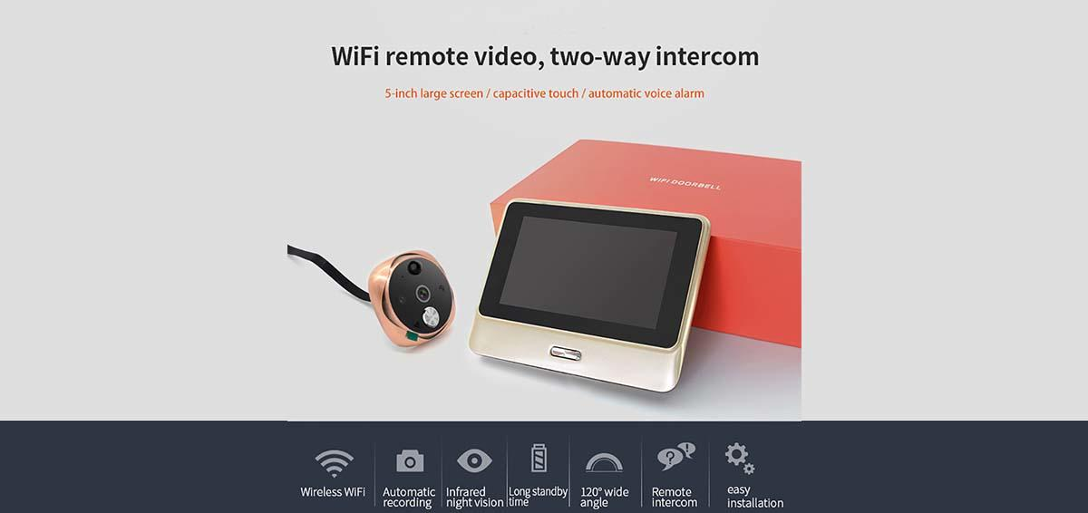 Eversunny convenient wifi peephole door viewer digital HD for peepholecam-1