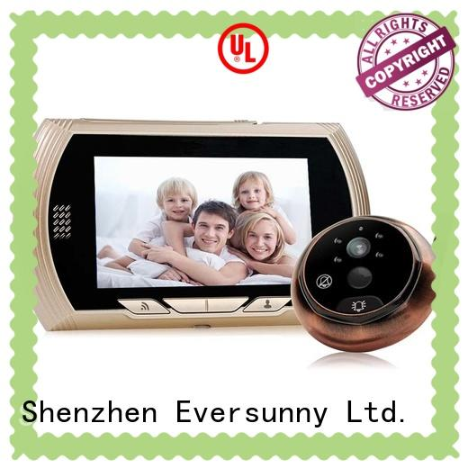 Eversunny control wifi peephole viewer prevent damage for doorbell camera