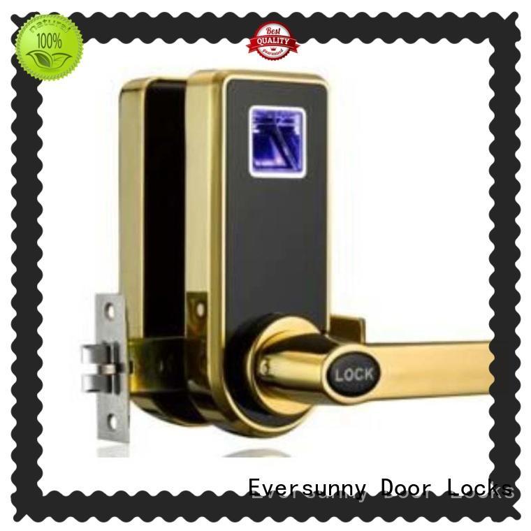 best fingerprint door lock system rechargeable knob for apartment