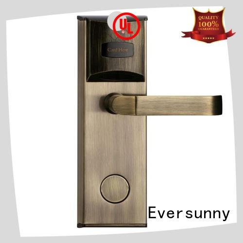 Eversunny practical key card door lock price with central management control system for home