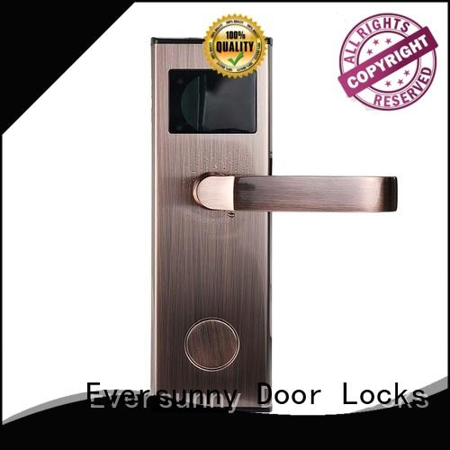 Electronic hotel key card lock stainless steel for door
