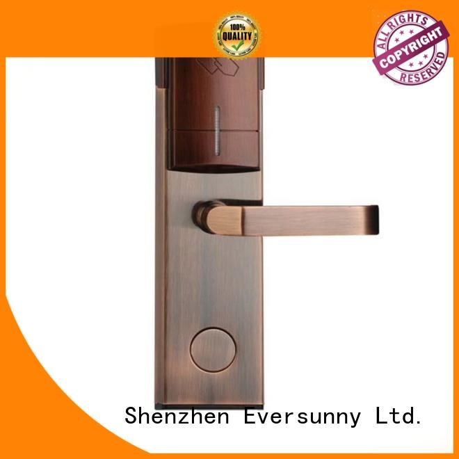 Eversunny key card door lock system stainless steel for home