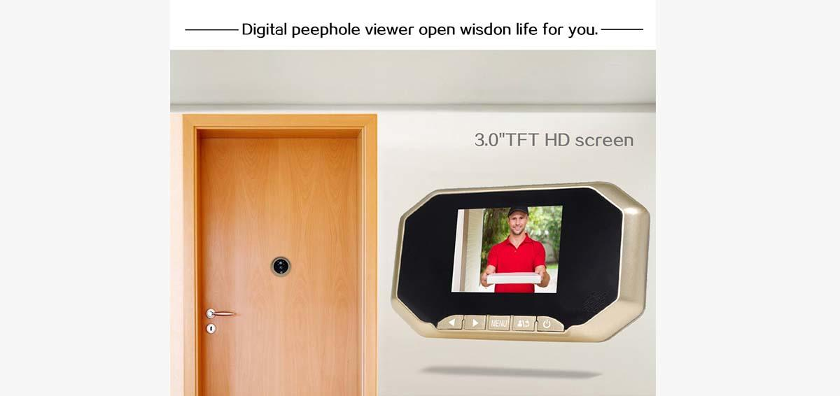 Eversunny door door eye viewer LCD for apartment-2