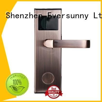 entry rfid card door lock system with central management control system for hotel Eversunny