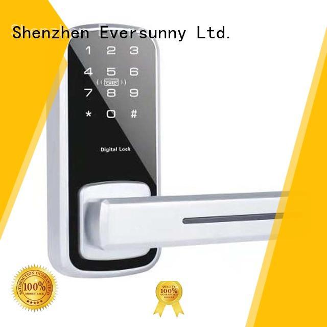 Eversunny glass schlage code door lock energy-saving door