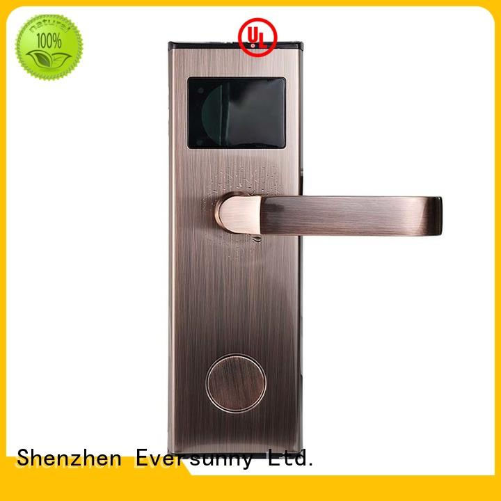 apartment card reader door lock stainless for hotel Eversunny