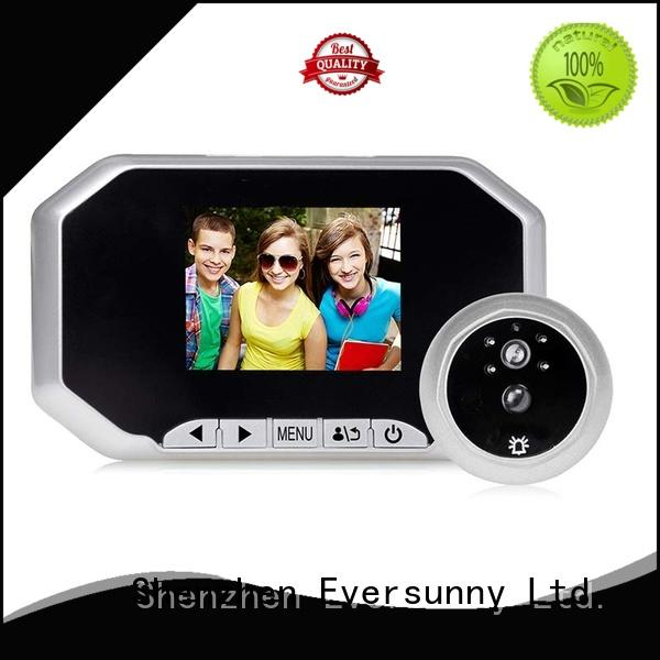Eversunny digital peephole door viewer with motion sensor lens for office