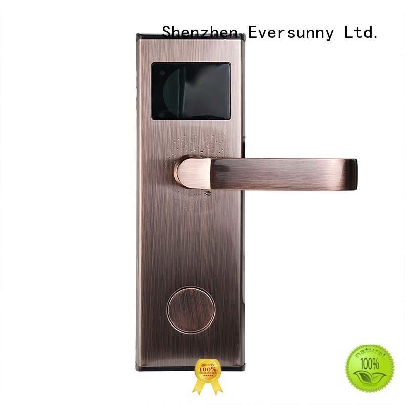 Eversunny smart rfid card door lock system stainless steel for door
