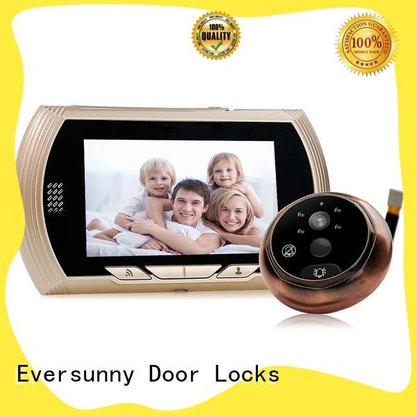 smart wifi peephole viewer door compact structure for doorbell camera