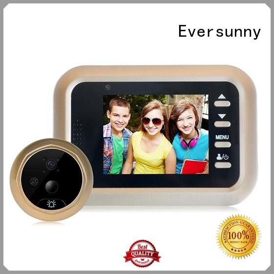 Eversunny detection motion activated digital peephole Large angle for apartment