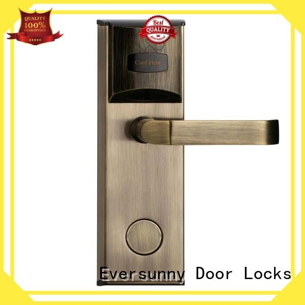 Electronic door key card system door stainless steel for hotel