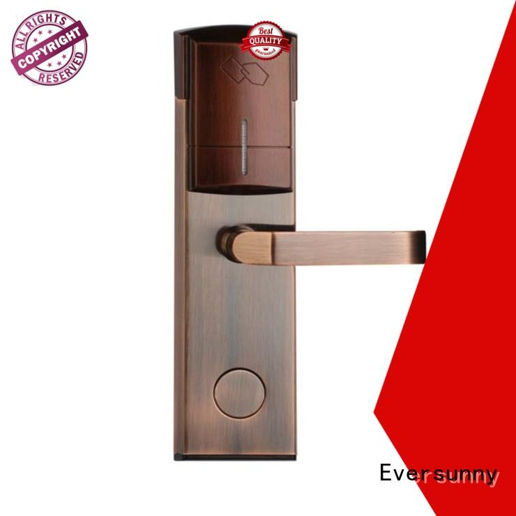 Eversunny reliable rfid card door lock with central management control system for apartment