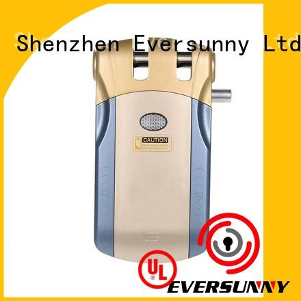 Eversunny simple remote control door locks for homes mobile controlled for apartment