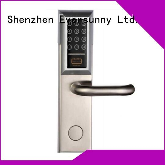 electronic key code door knob front for hotel Eversunny