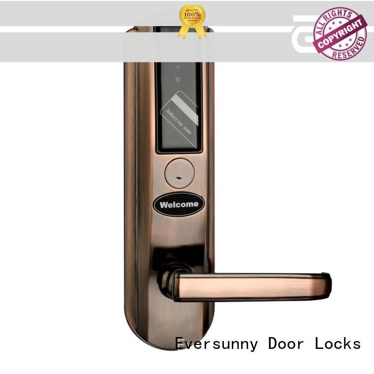 Eversunny safe smart card door lock energy-saving for hotel