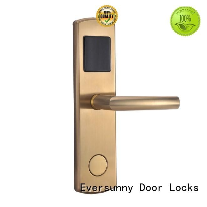 Eversunny practical electronic door locks with card reader hotel smart locks for hotel