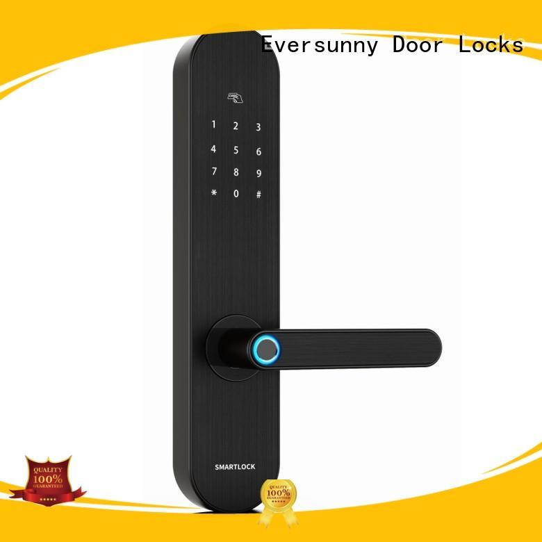Eversunny fingerprint entry system front door for villa