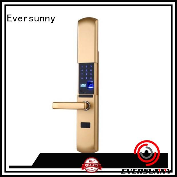 Eversunny intelligent fingerprint scanner door lock good quality for villa