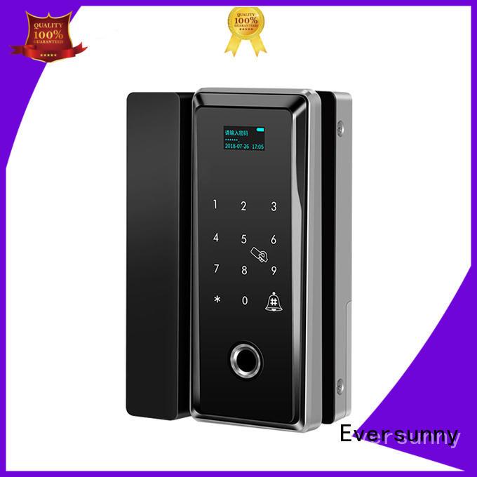 Digital fingerprint and password glass door lock