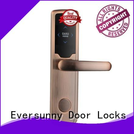 Eversunny practical door key card system hotel smart locks for hotel