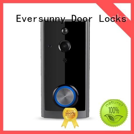 Eversunny wi fi enabled video doorbell with central management control system for hotel