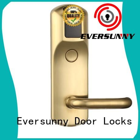 Eversunny reliable rfid card door lock system stainless steel for hotel