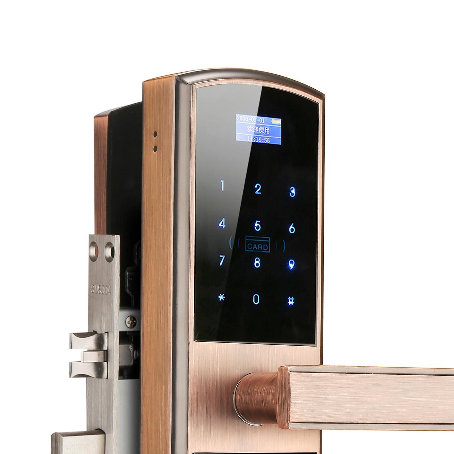 Eversunny superior biometric door lock touch screen for apartment-2