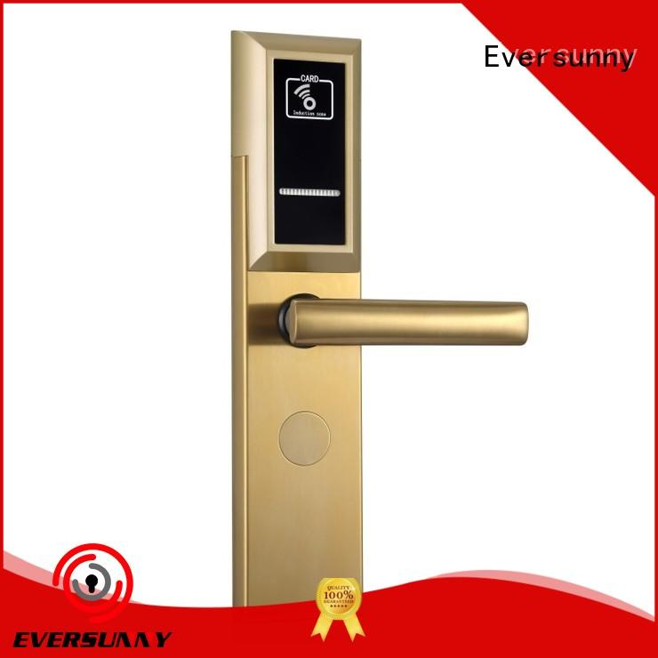 Eversunny key key card door lock stainless steel for apartment