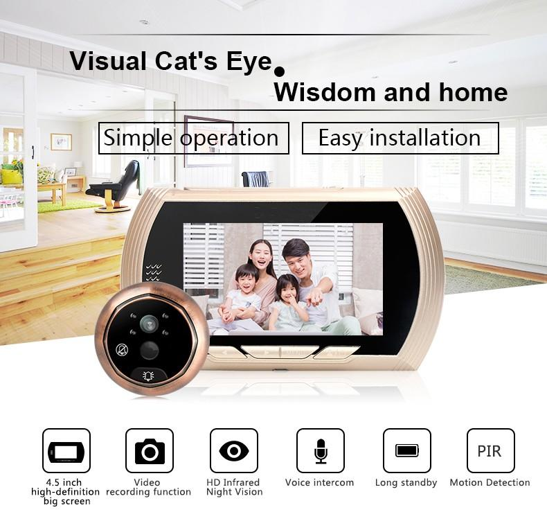 Eversunny digital motion activated digital peephole lens for office-1