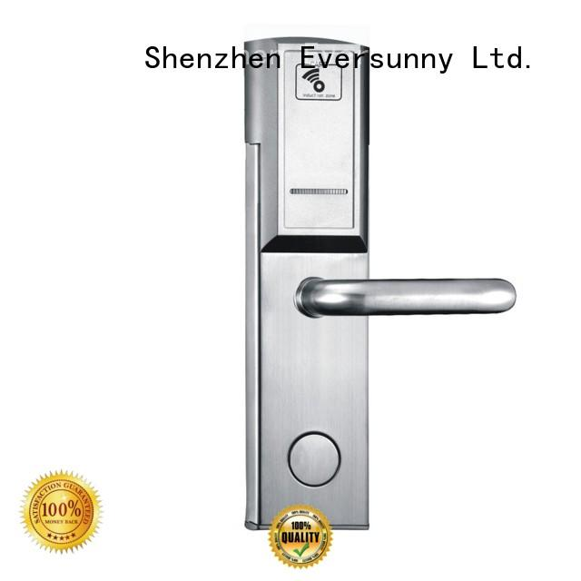 fast key card door lock system stainless steel for hotel
