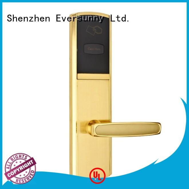 Eversunny convenient key card door lock system with central management control system for hotel