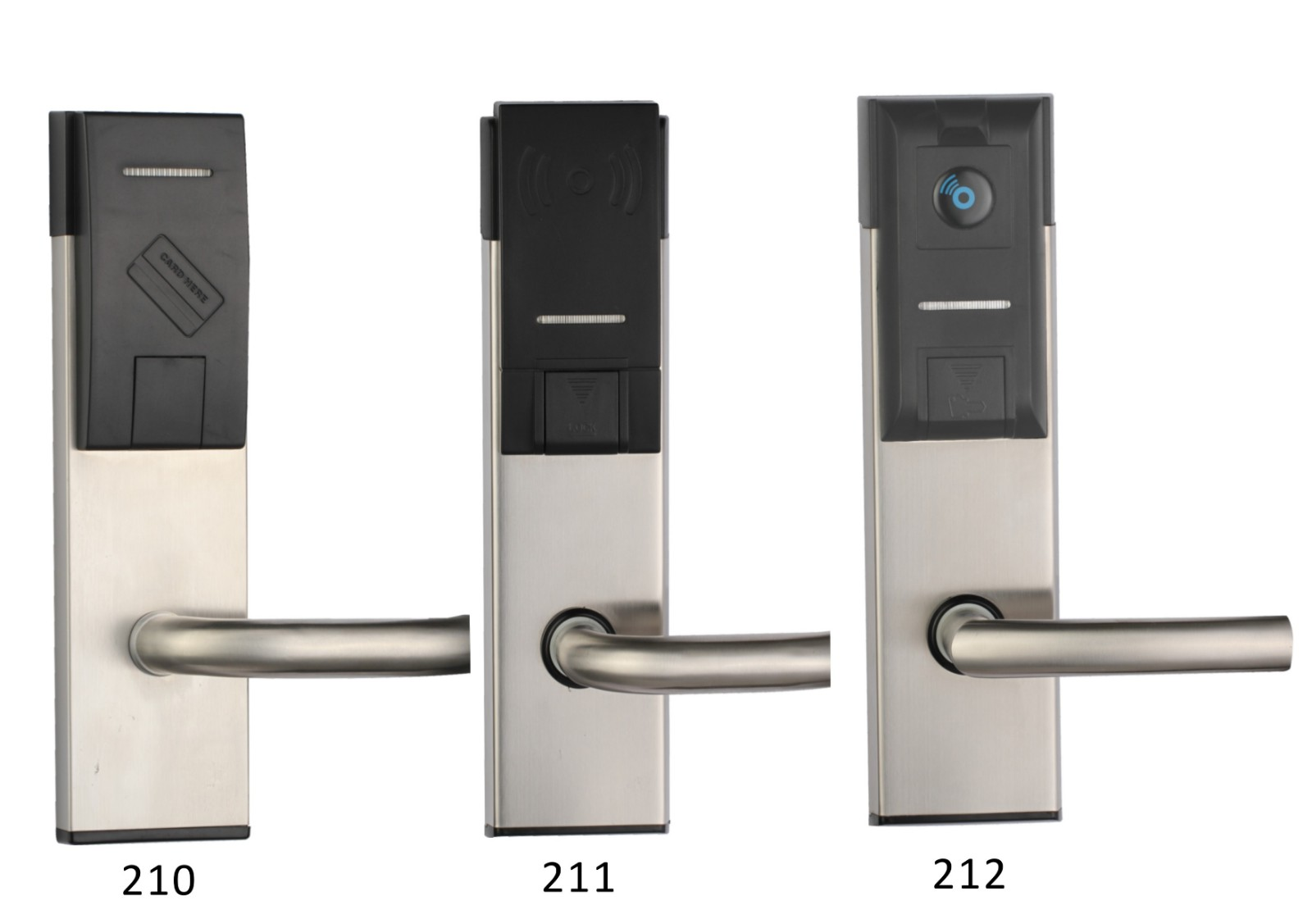 Electronic key card access locks stainless steel for home-1