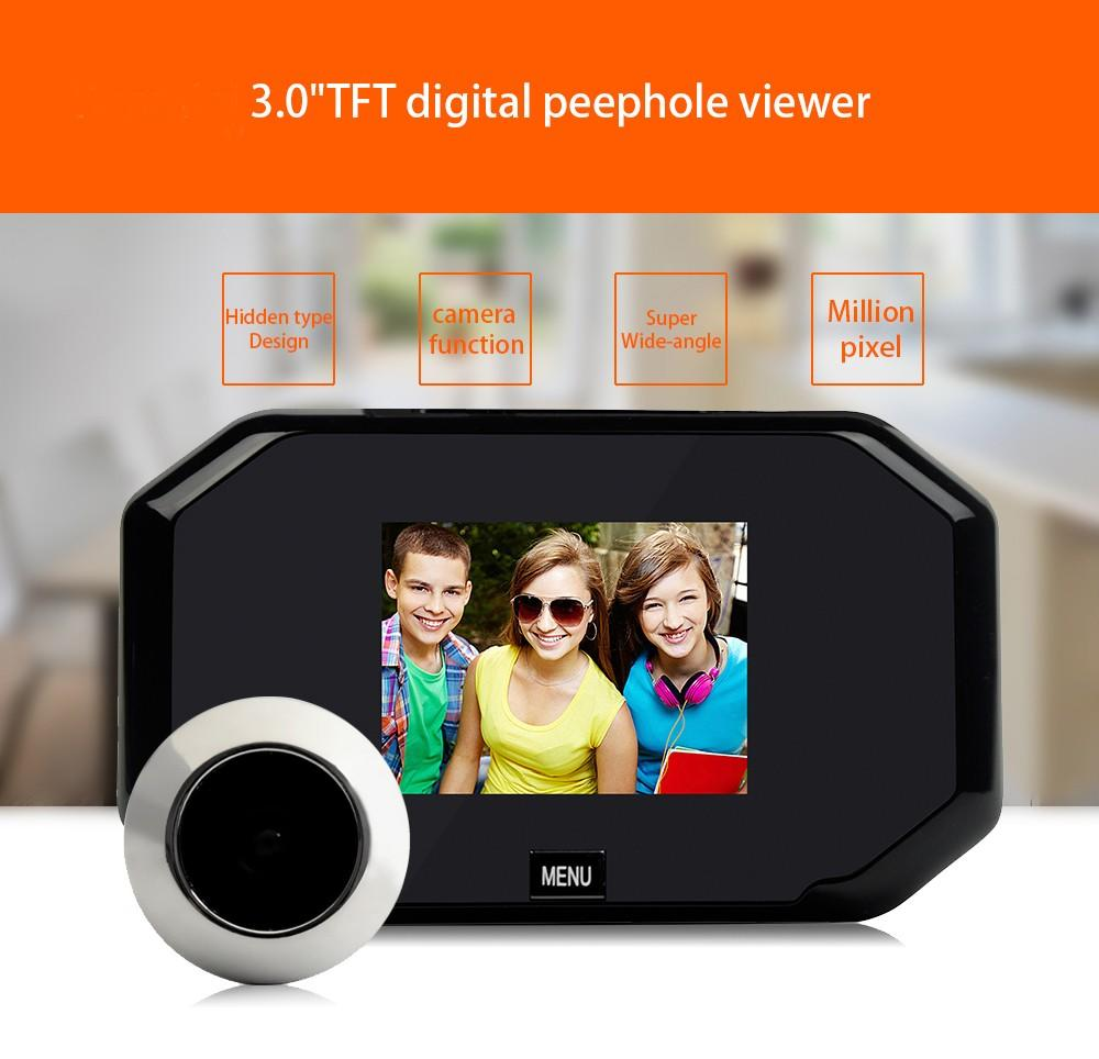 smoothly front door viewer visual large wide-angle lens for cottage