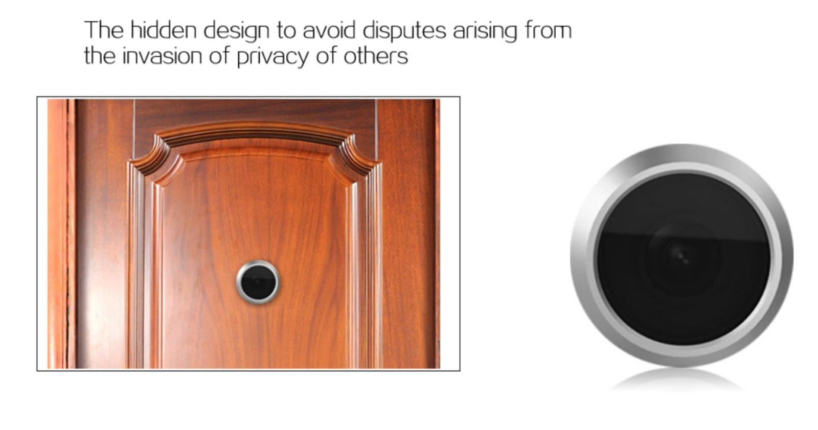 Eversunny smoothly electronic door viewer large wide-angle lens