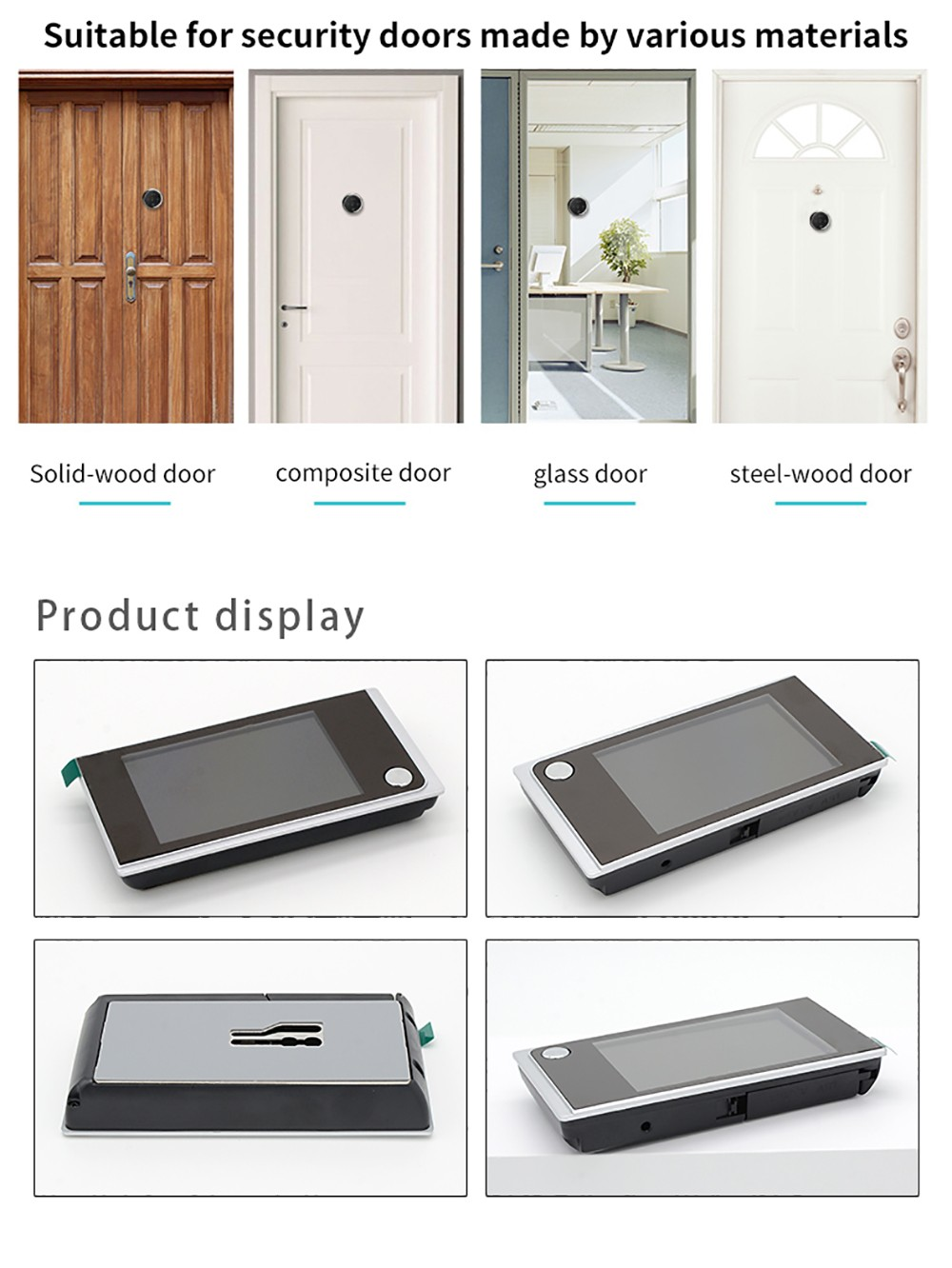Eversunny clearly smart door viewer energy-saving for villa-4