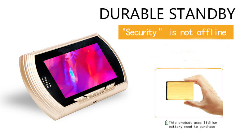 4.5 inch electronic digital lcd peephole with motion detection