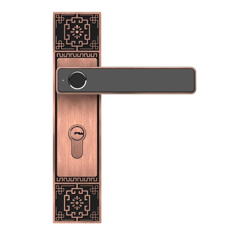 Smart fingerprint door lock Chinese retro style
