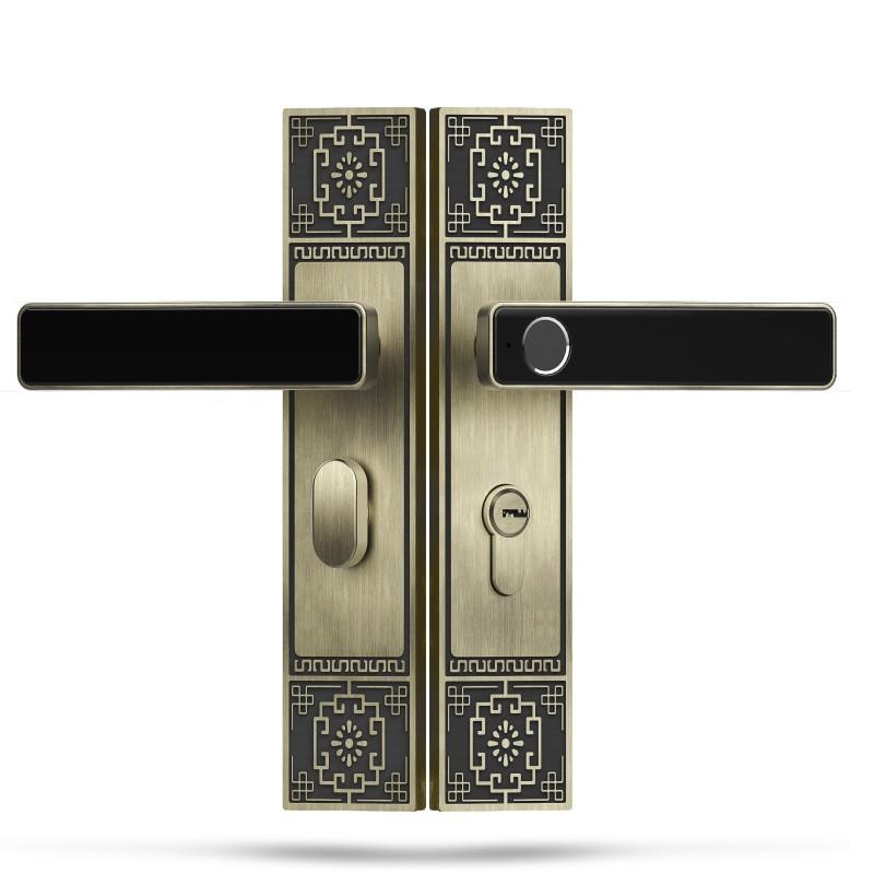 Fingerprint Keyless Door Lock Bluetooth Discrete Pin Code Input
