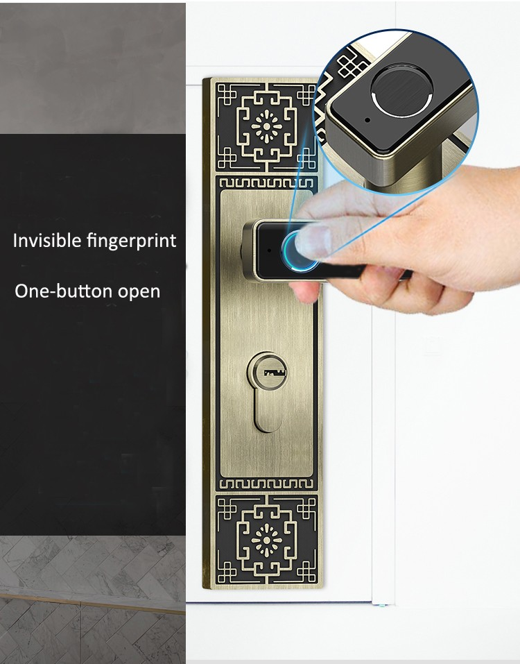 Eversunny durable finger sensor lock handle for interior rooms-5