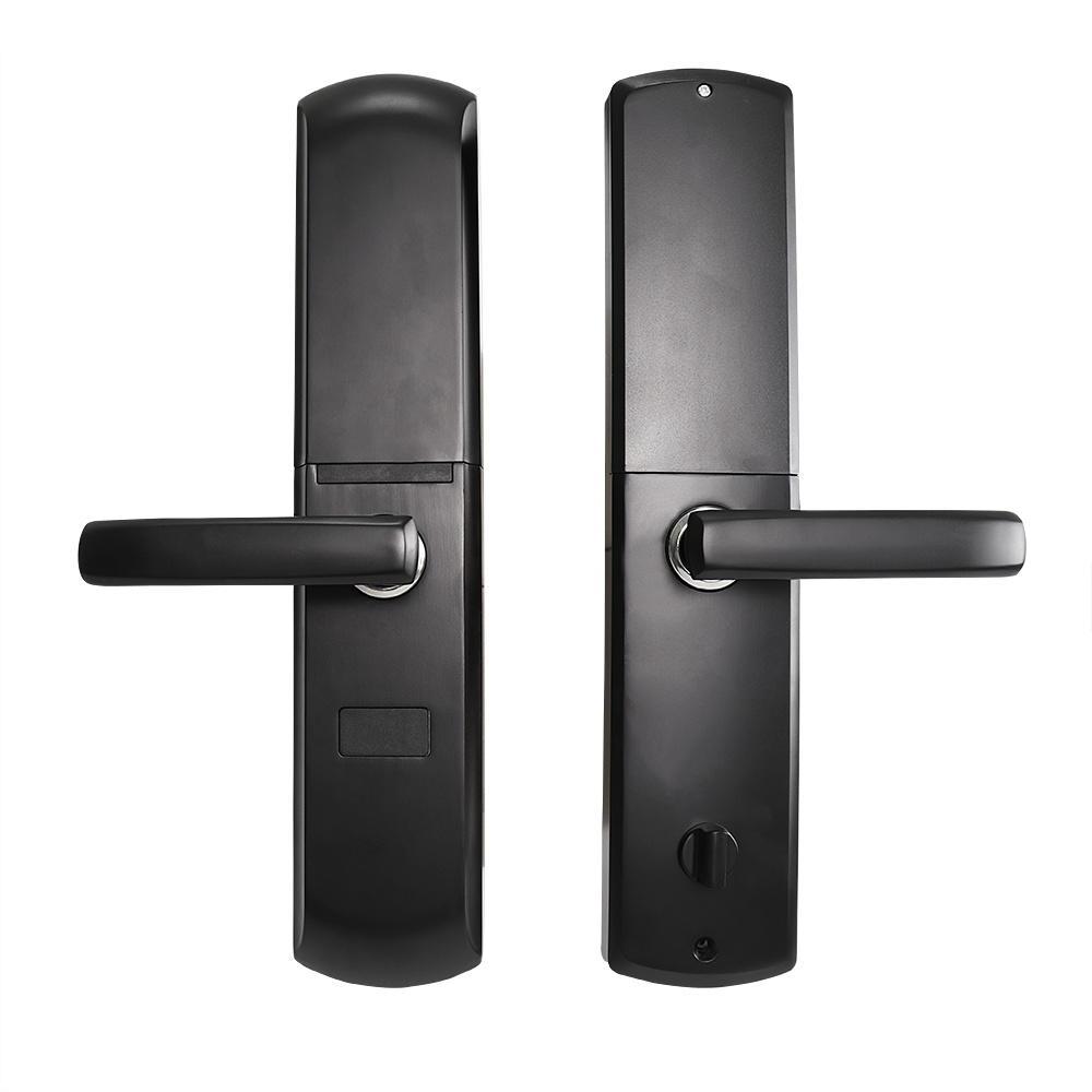 Wireless fingerprint smart door lock with intelligent handle direction reversible