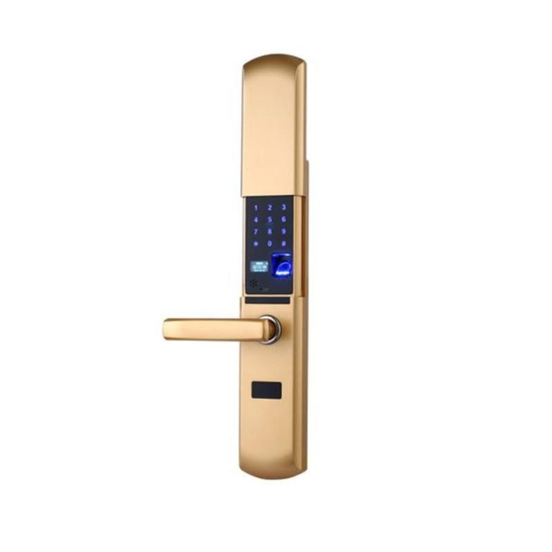 Wireless fingerprint smart door lock with intelligent handle direction reversible
