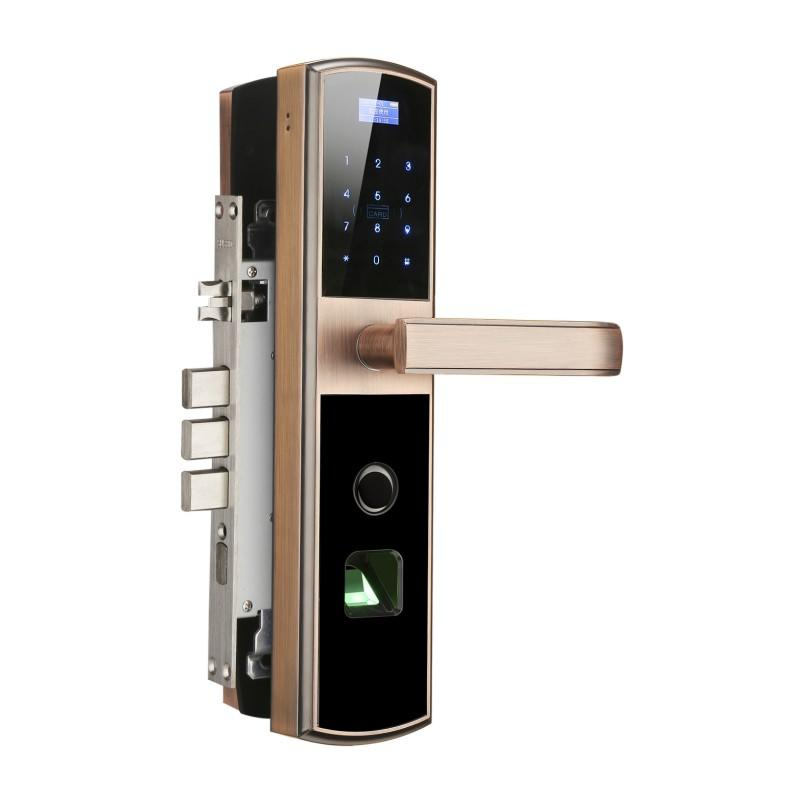 Fingerprint Keyless Door Lock Bluetooth Discrete Pin Code Input
